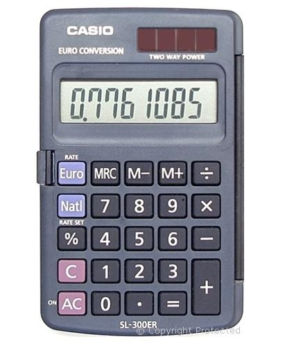 Amazon. Com: casio-pocket calculator with euro currency conversion.