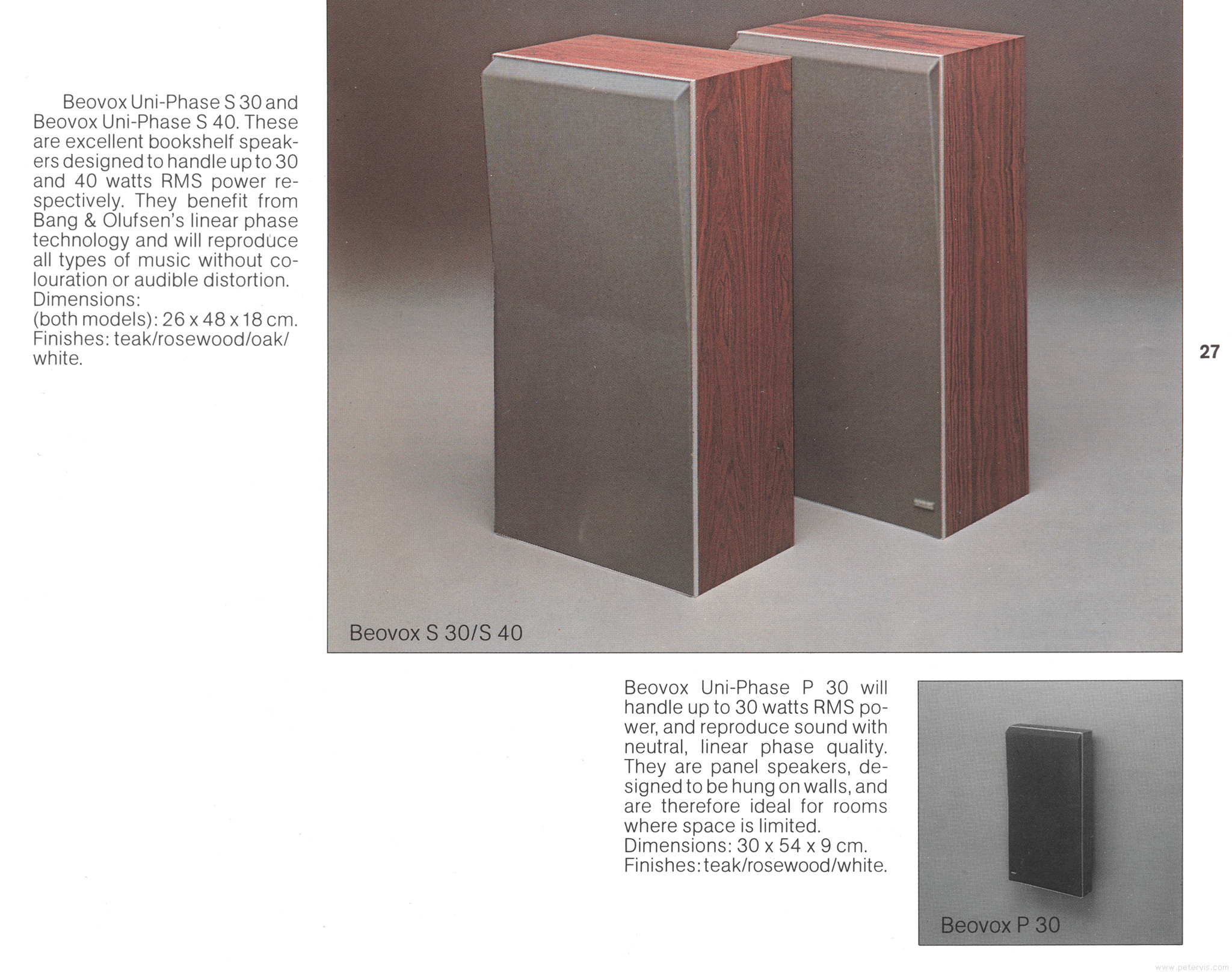 Bang Olufsen Beovox S30 And S40 Speakers