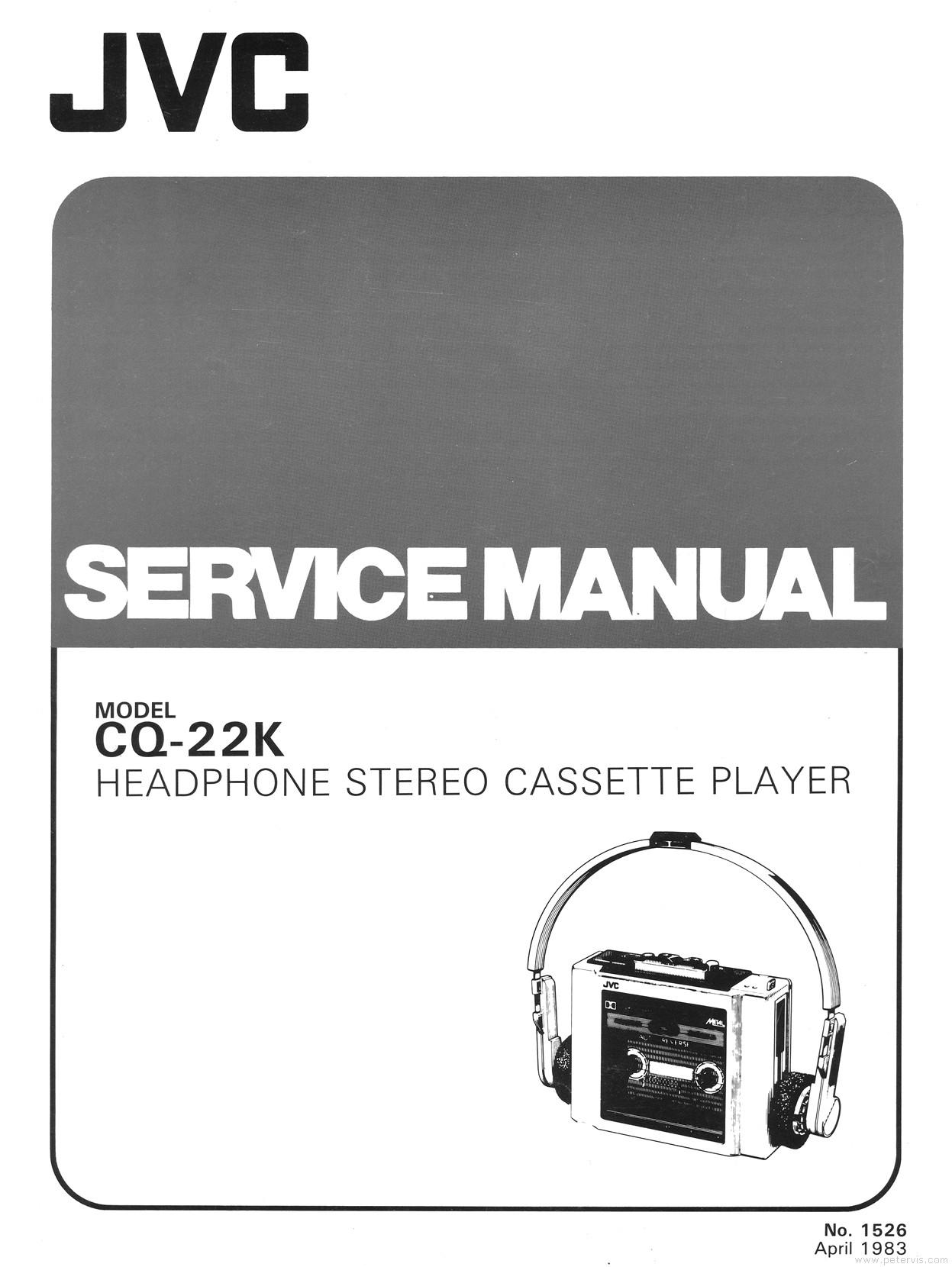 JVC CQ-22K Service Manual